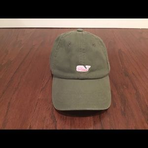 Vineyard Vines Army Green adjustable baseball hat